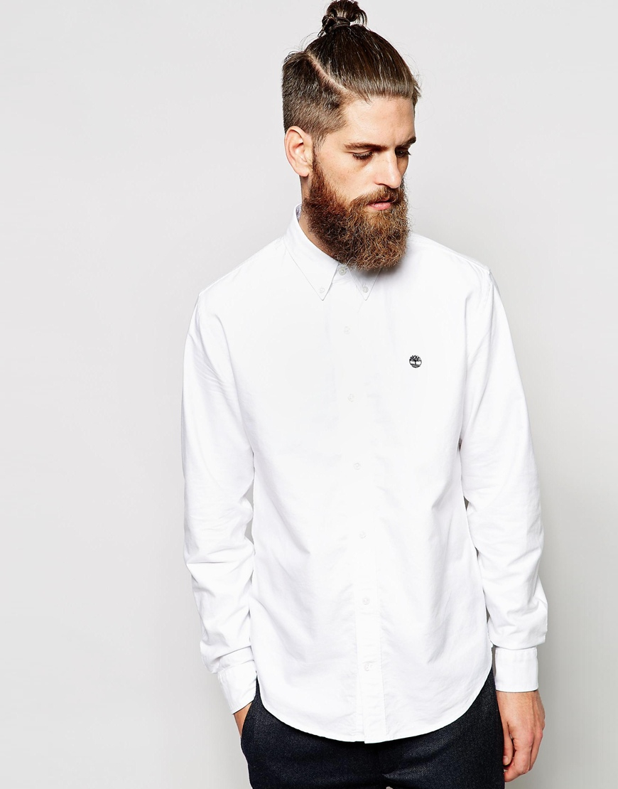 Timberland Oxford Shirt In White For Men Lyst