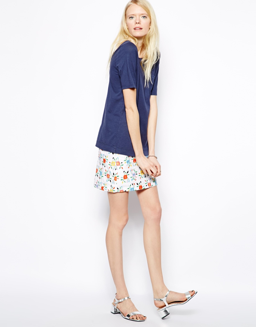Ymc Wild Flower Mini Skirt | Lyst