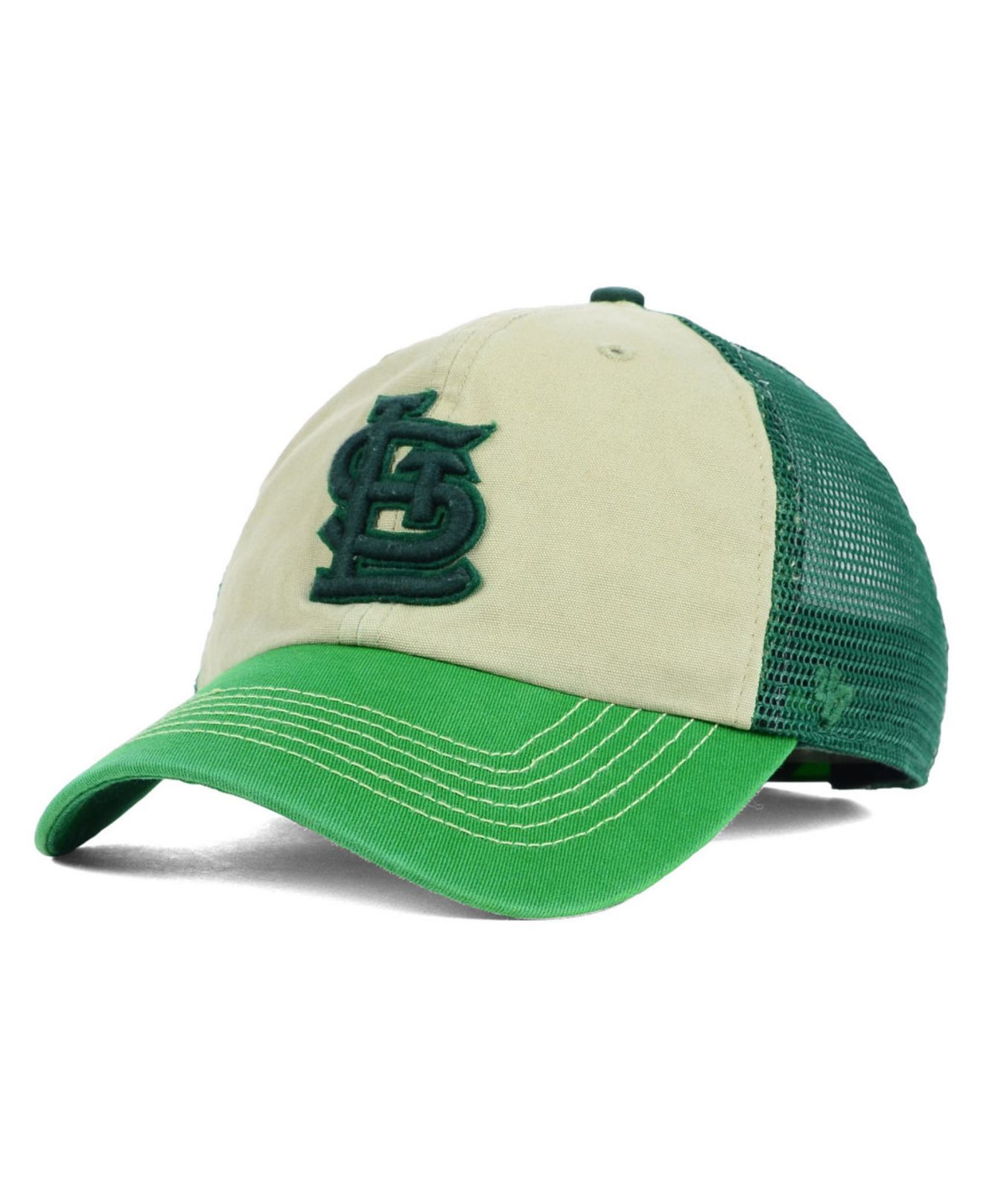 new product 42014 6539f ... cheapest lyst 47 brand st. louis cardinals mcnally clean up cap in green  cf080 31d46