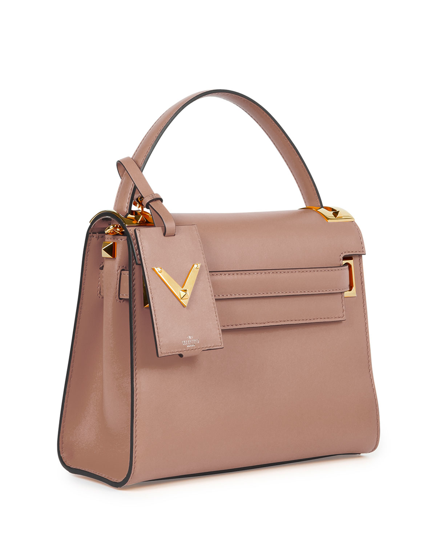valentino my rockstud single handle bag in pink lyst
