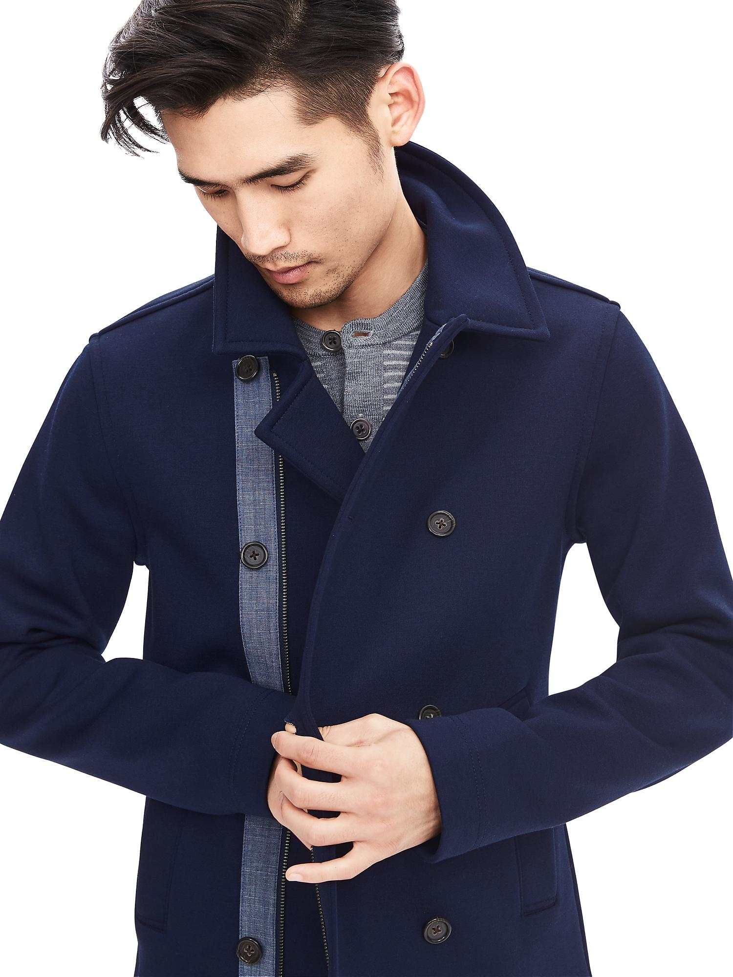 Mens Grey Pea Coat Canada - Tradingbasis