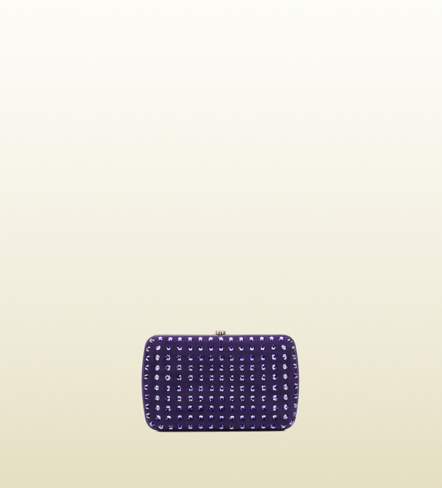 acb047bca47f30 Gucci Broadway Suede Evening Clutch with Crystal Studs in Purple - Lyst