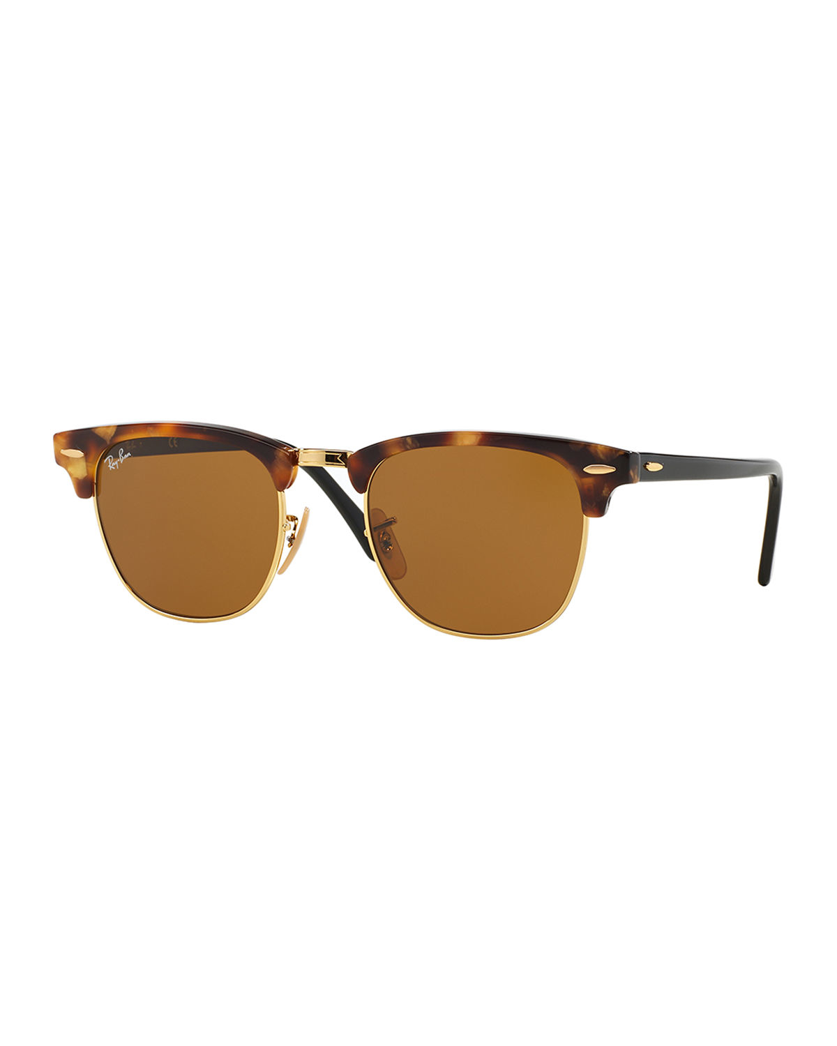 Lyst Ray Ban Classic Clubmaster Sunglasses In Brown