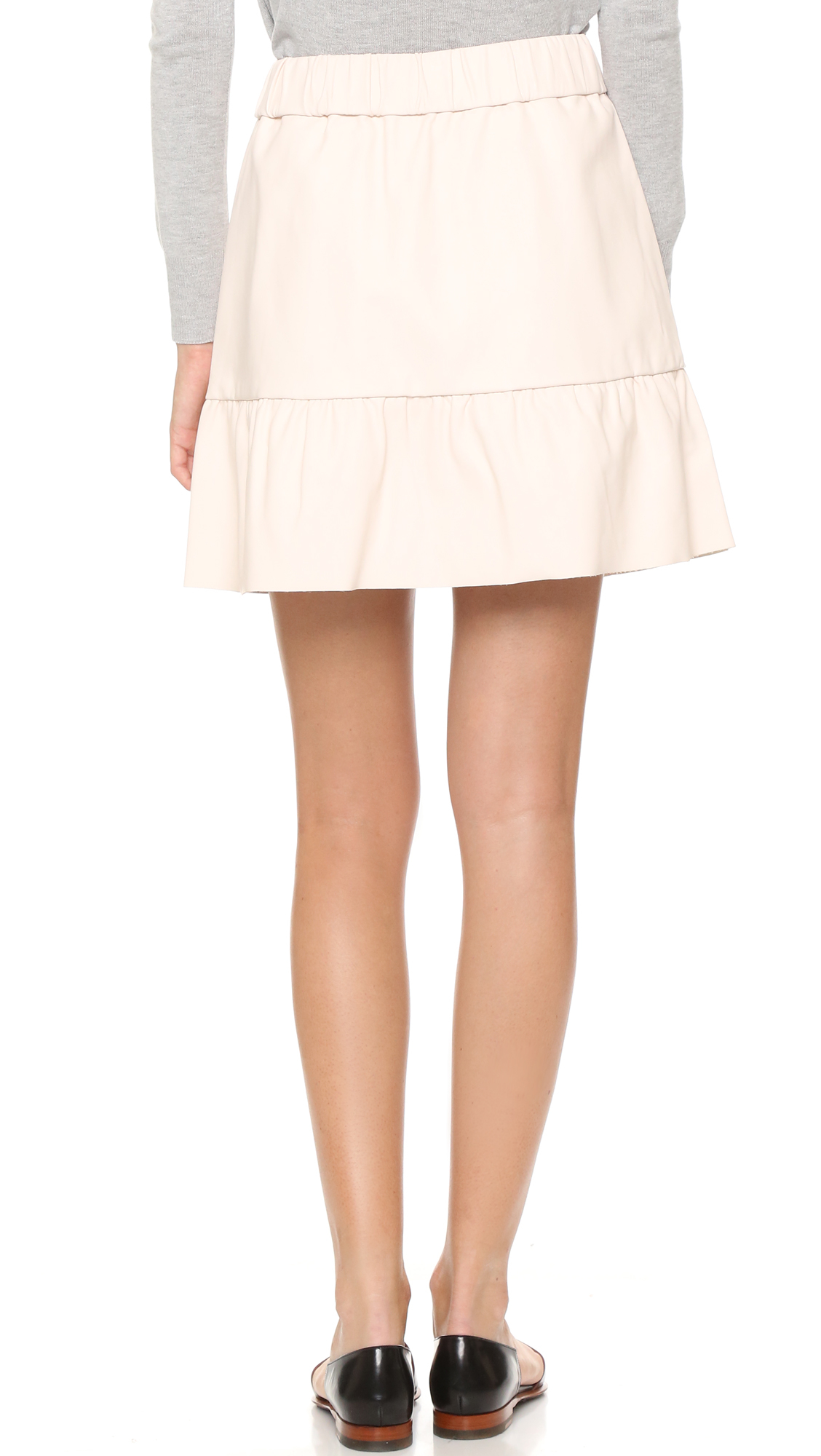 club monaco delani novel faux leather skirt in lyst