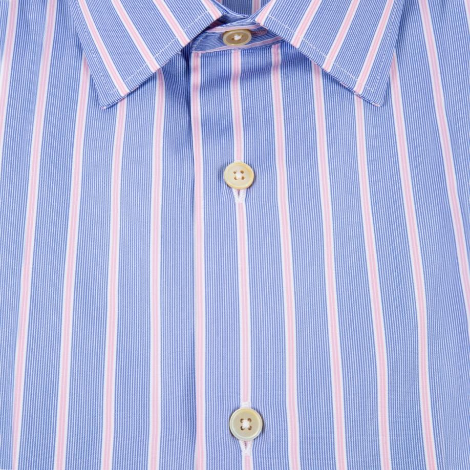 paul smith men 39 s tailored fit sky blue and pink ticking