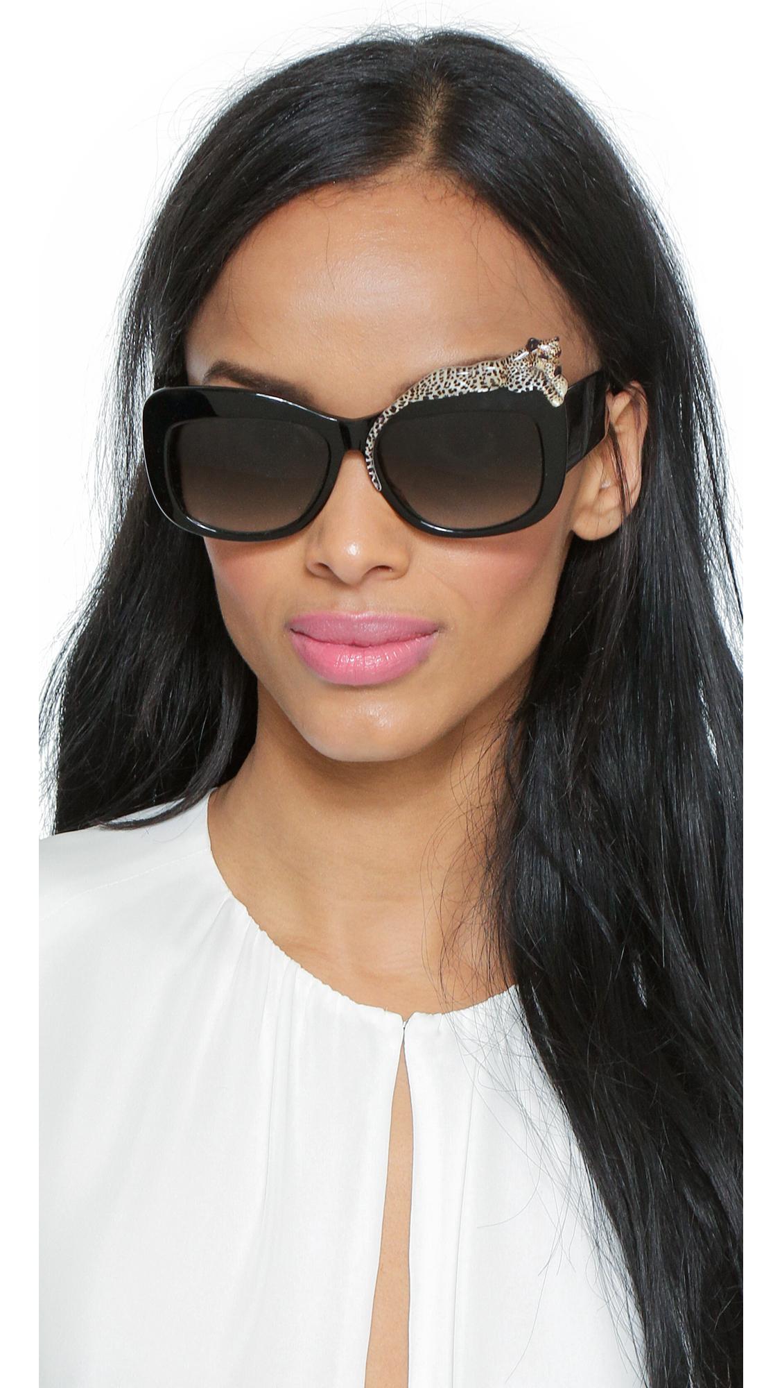 bbf4b4e39b1 Anna Karin Karlsson Rose Et La Mer Sunglasses - Black Rose in Black ...