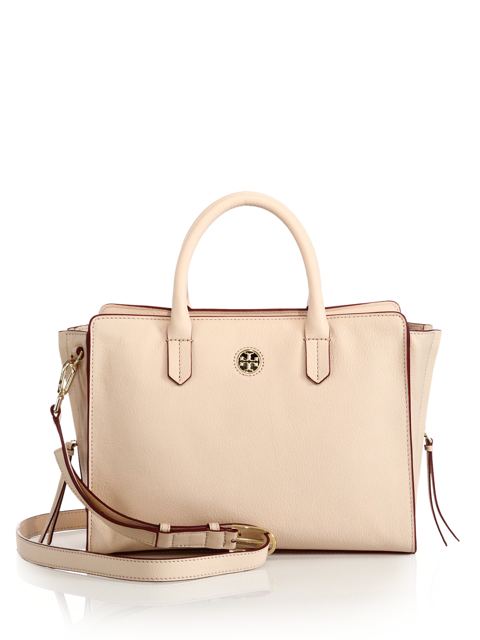 d029226bddd Lyst - Tory Burch Brody Small Leather Tote in Natural