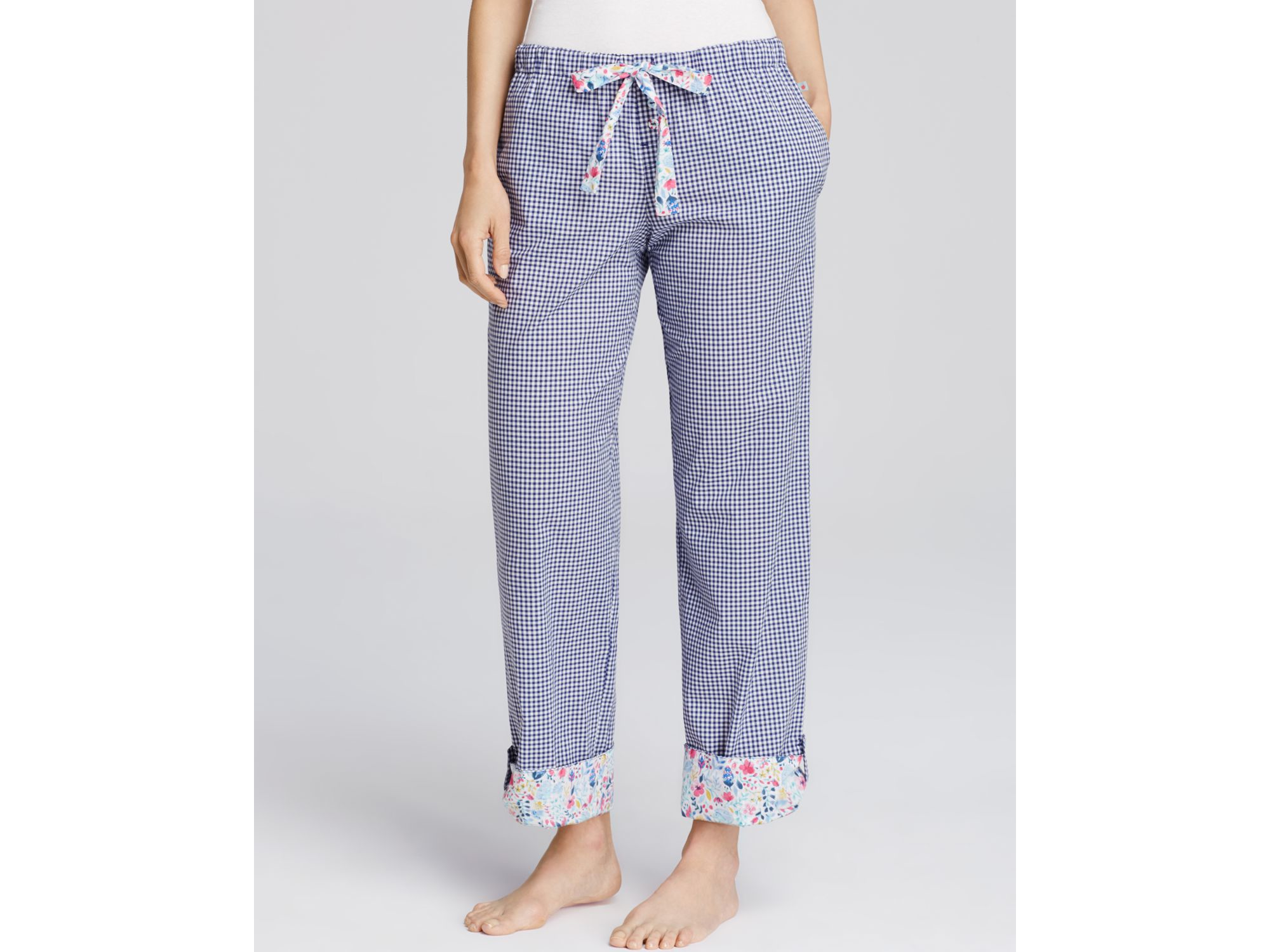 96f2f3fb3dc6 Jane & Bleecker New York Gingham Batiste Pajama Pants in Blue - Lyst