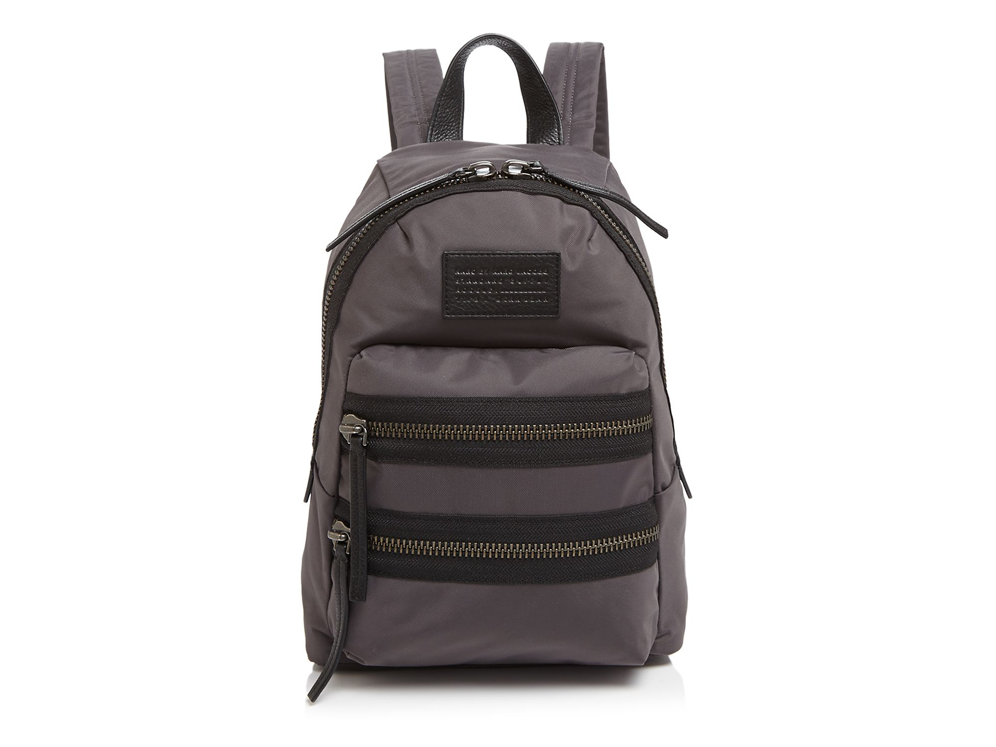 marc by marc jacobs domo arigato mini packrat color block backpack in gray lyst. Black Bedroom Furniture Sets. Home Design Ideas