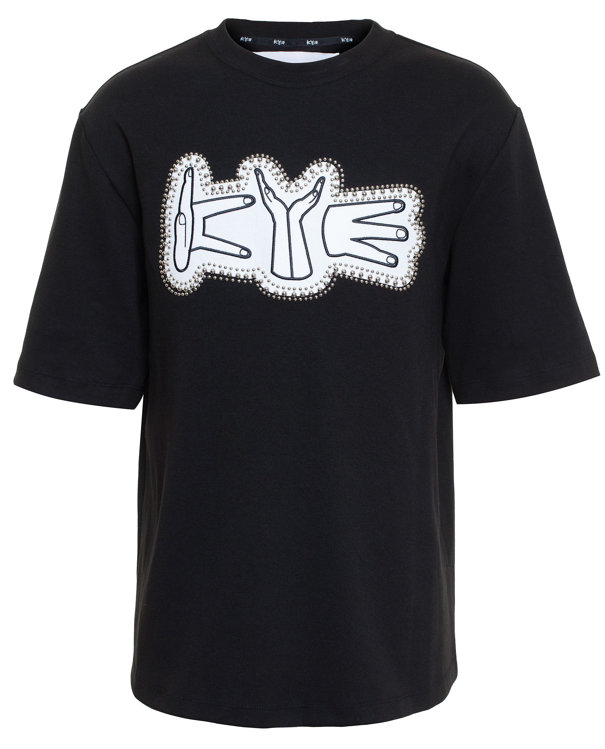 Lyst Kye Embroidered Logo T Shirt In Black For Men