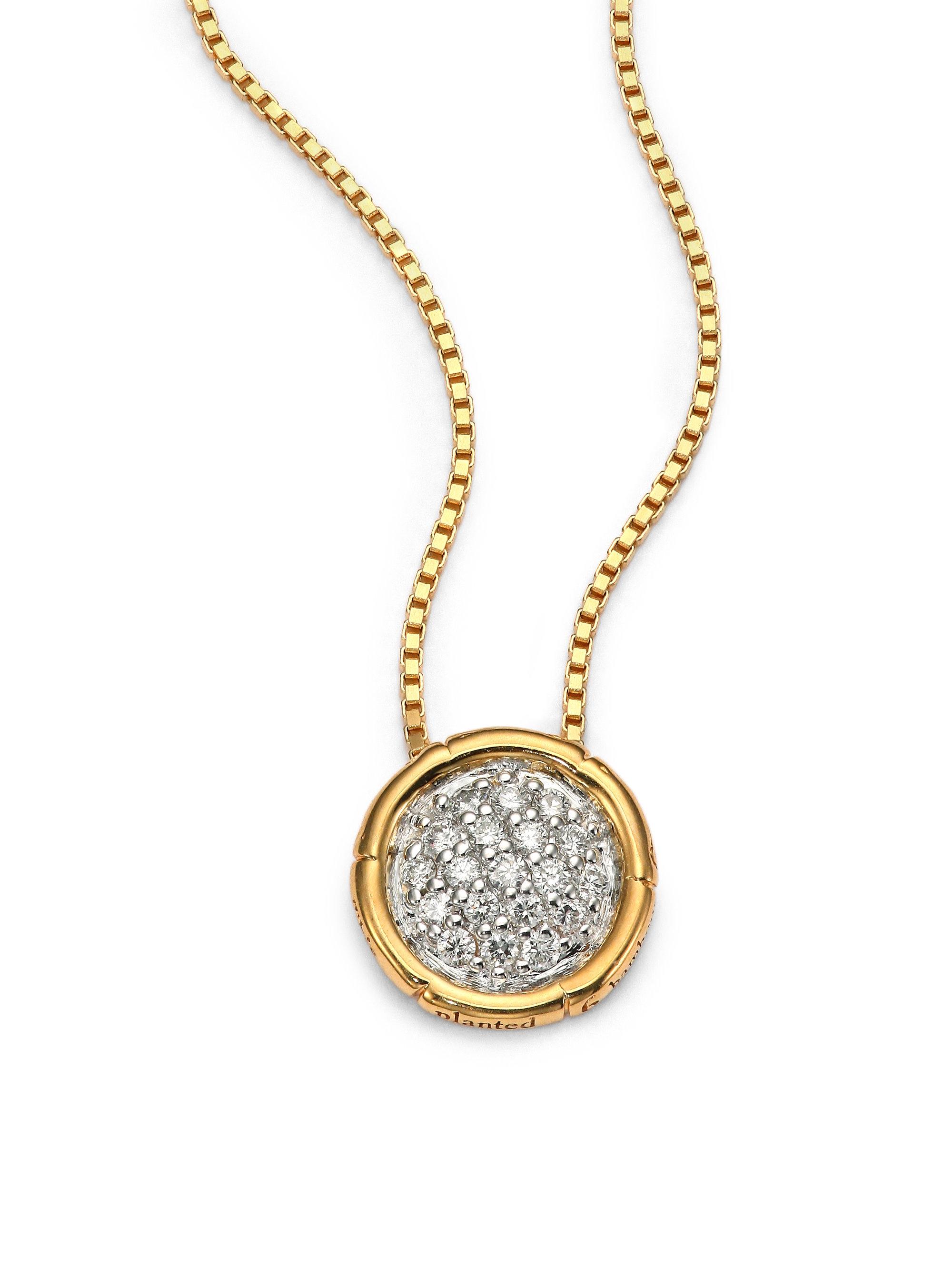 john hardy bamboo diamond 18k yellow gold small round. Black Bedroom Furniture Sets. Home Design Ideas