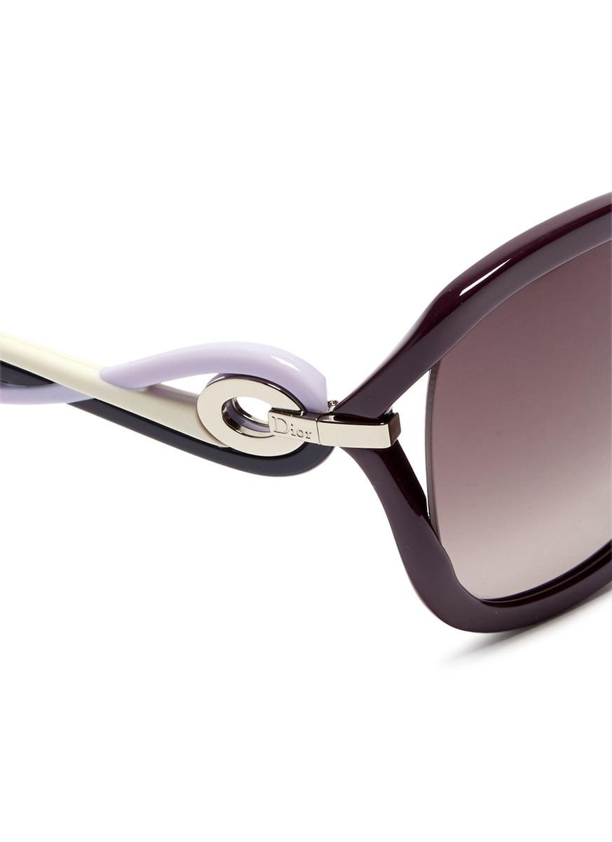 lyst dior 39 twisting f 39 suspended lens acetate sunglasses