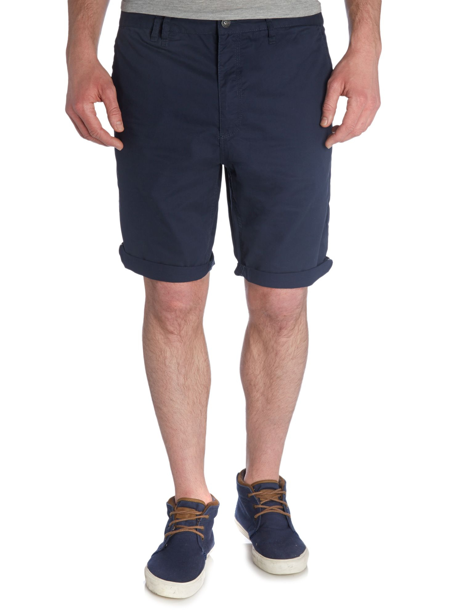 Navy Chino Shorts Mens - The Else