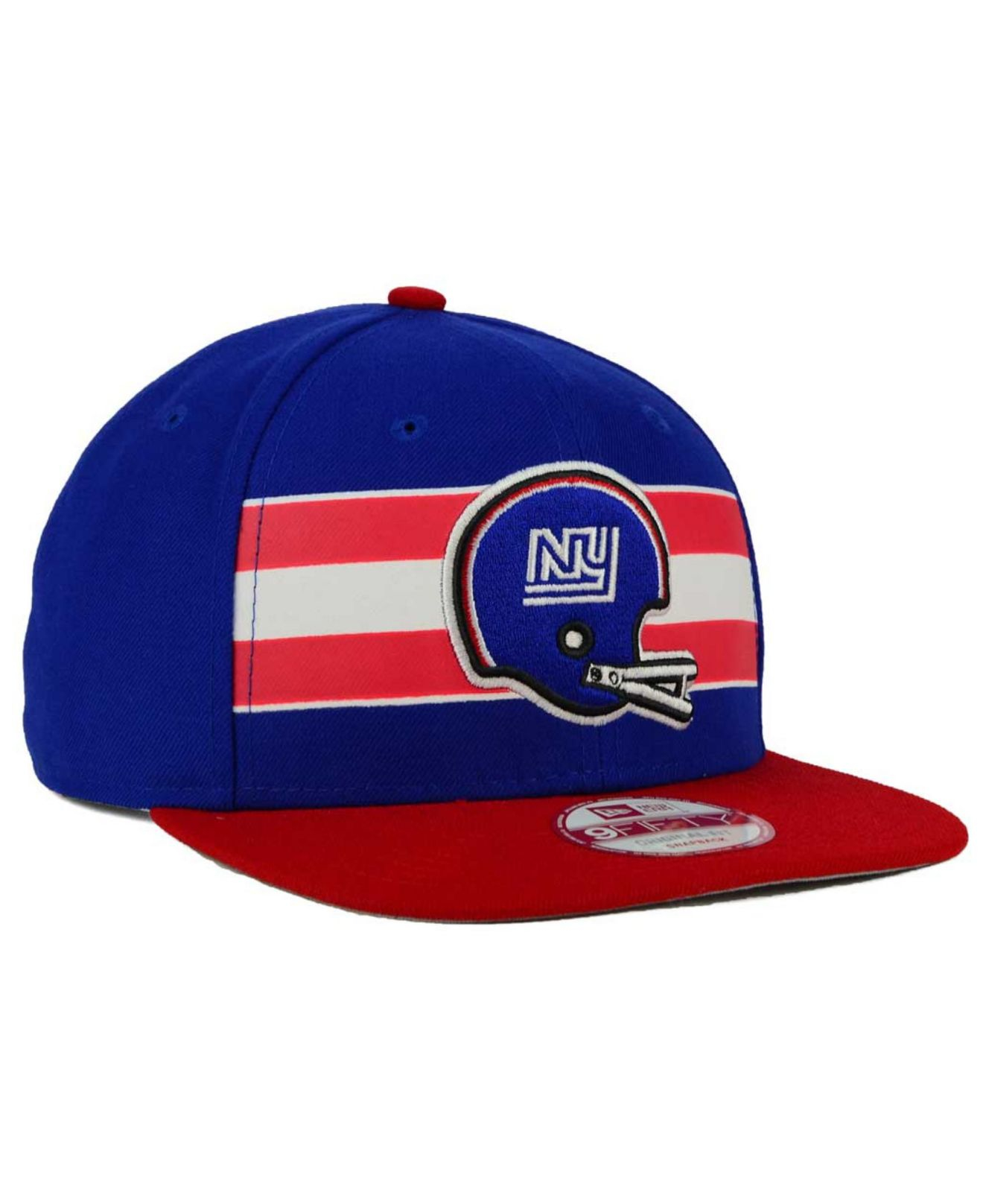 Lyst - KTZ New York Giants Retro Striped 9fifty Snapback Cap in Blue ... 972b1ada3138