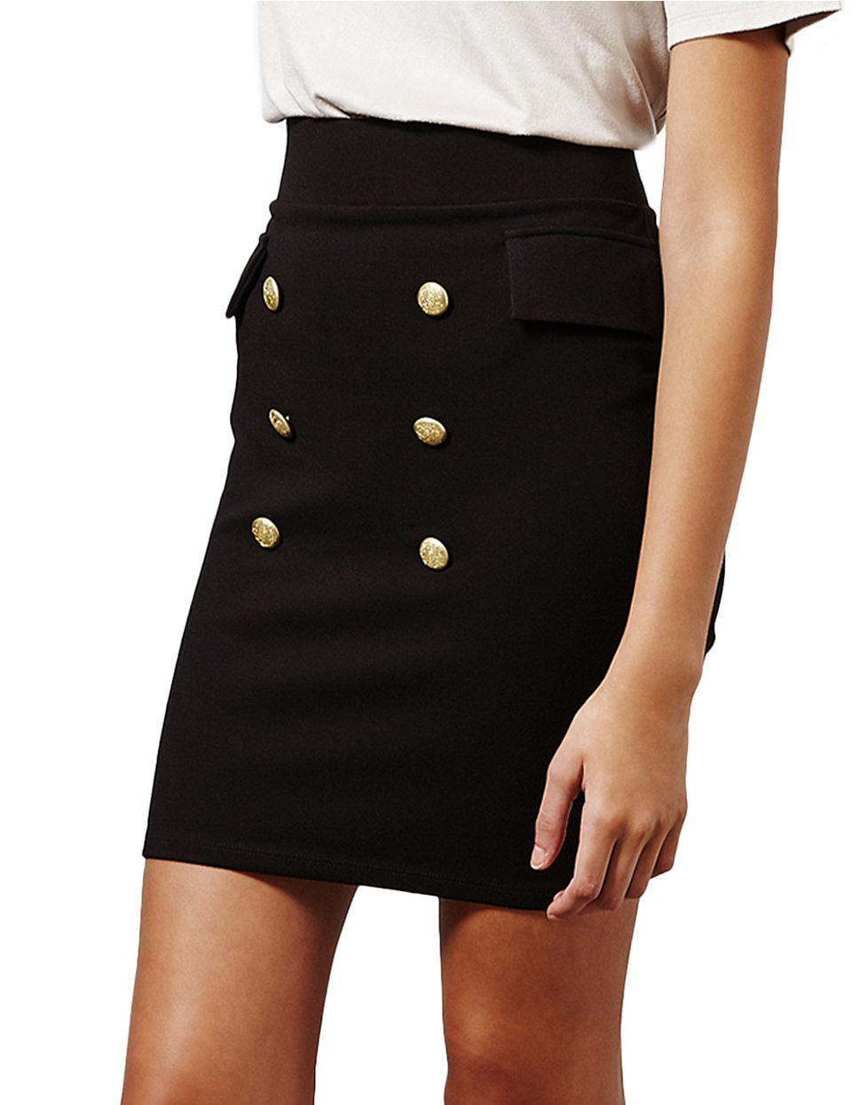 Lyst Miss Selfridge Double Breasted Button Front Pencil