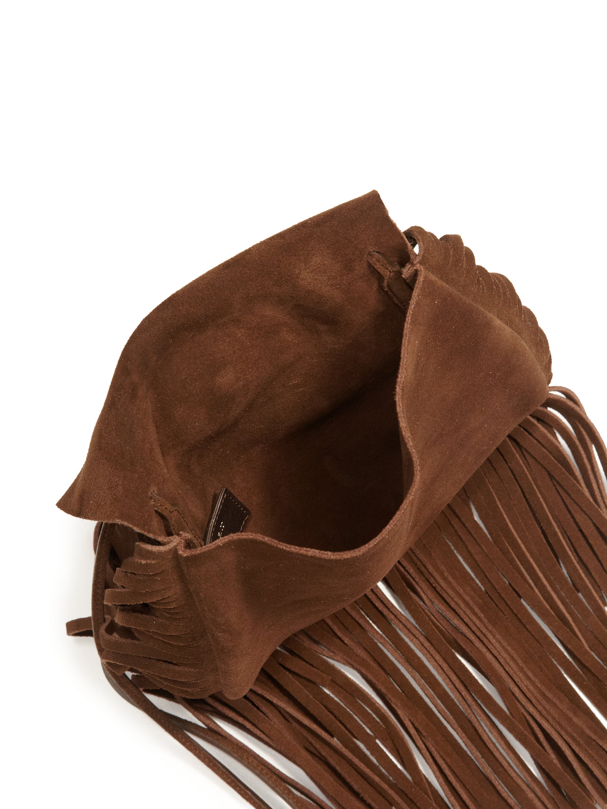 c220eb39f1 Lyst - Saint Laurent Anita Fringe Suede Crossbody Bag in Brown
