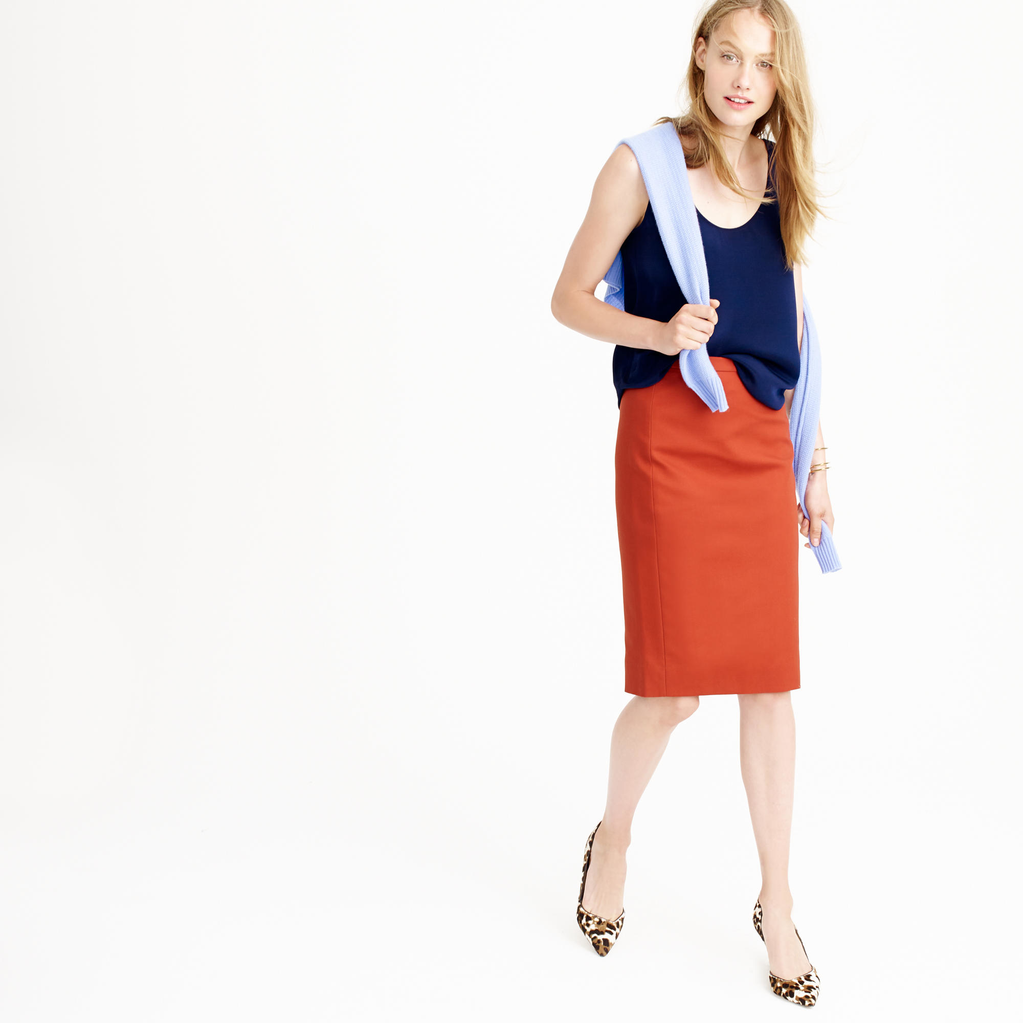 j crew no 2 pencil skirt in cotton twill in