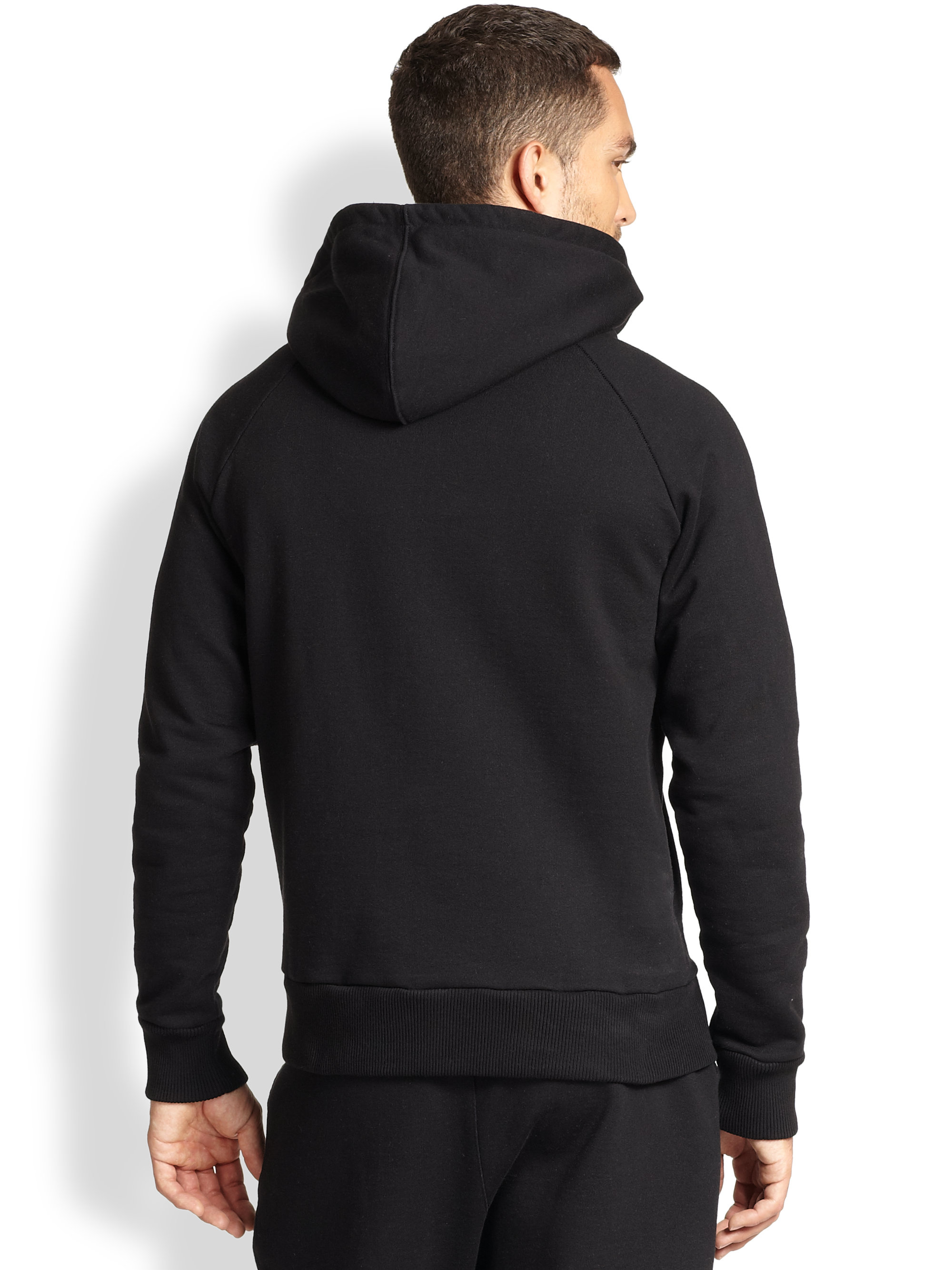Lyst Ami Hooded Sweatshirt In Black For Men