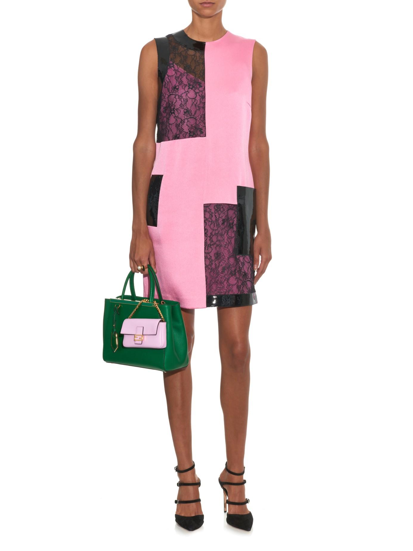 ef6f58ca9e ... hot lyst fendi micro baguette leather cross body bag in pink d8dcb 54654