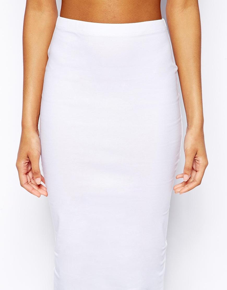 White Jersey Pencil Skirt | Jill Dress