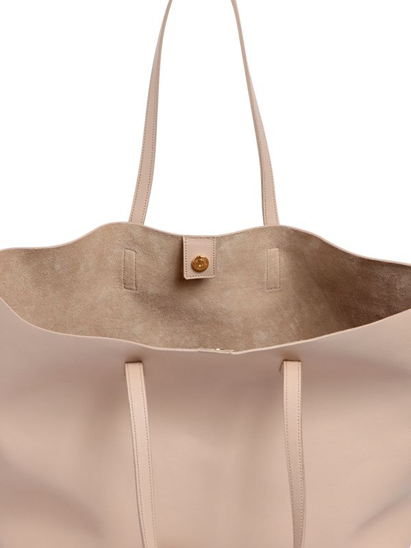 b9b6e54bd7 Lyst - Saint Laurent Soft Leather Tote Bag in Natural