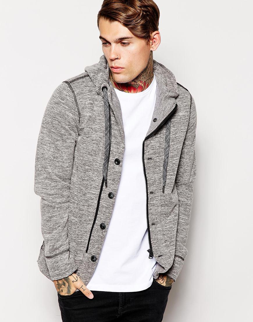 Diesel Hooded Sweat Jacket Sorbet in Gray for Men