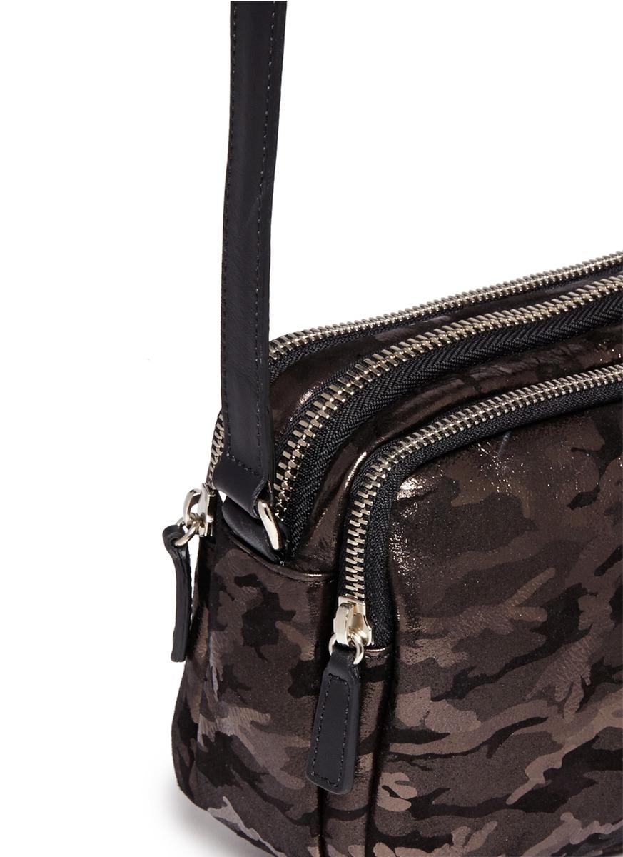 Jimmy choo 'opal' Camouflage Leather Suede Crossbody Bag ...