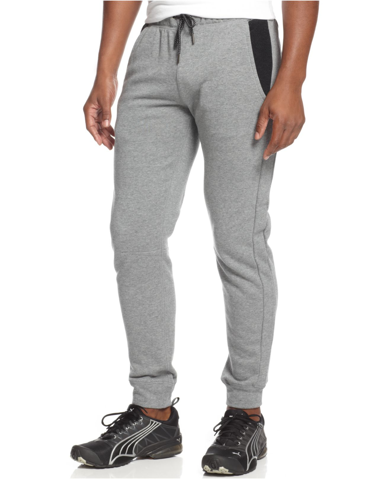 3f6adc8f9ab1 Lyst - PUMA Fleece Jogger Pants in Gray for Men