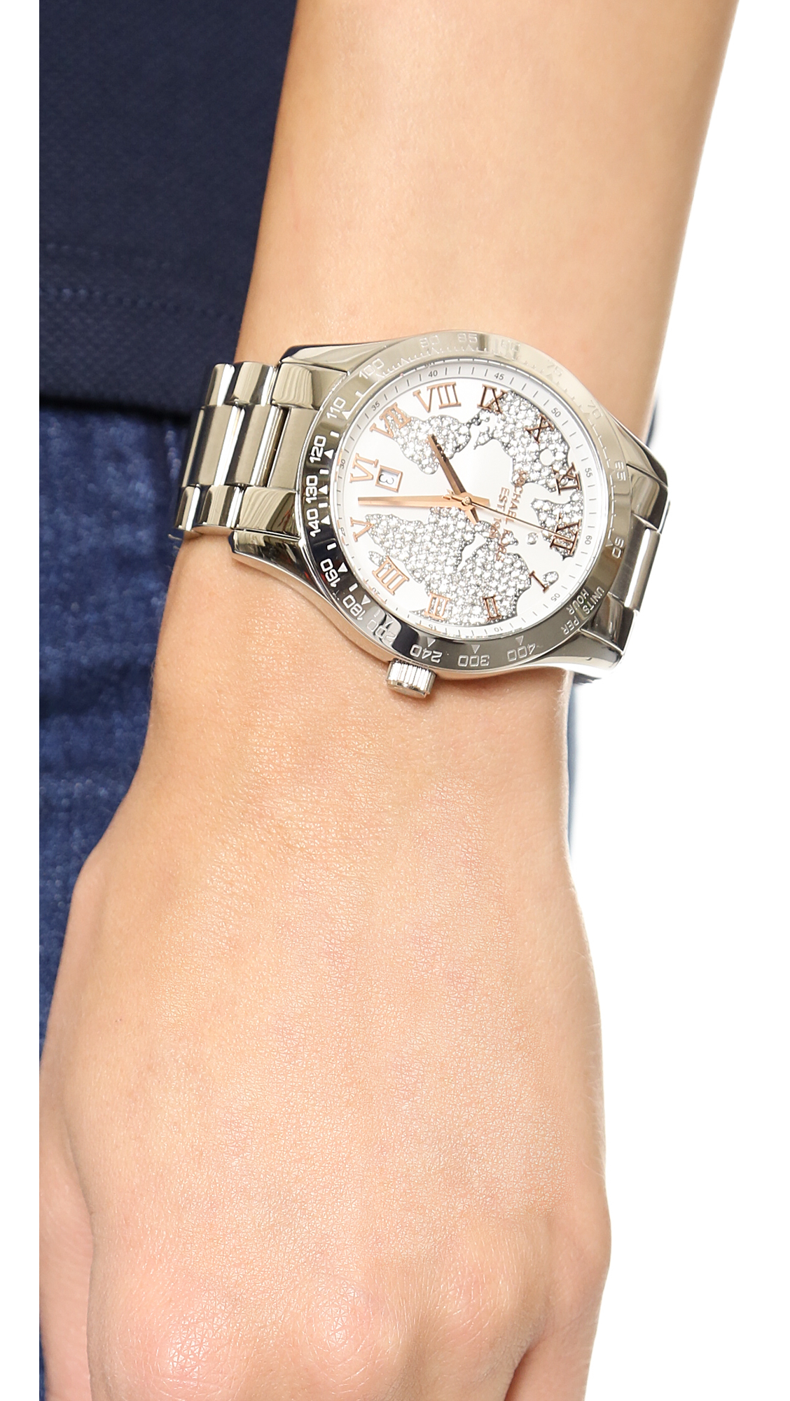 Lyst michael kors global glam layton watch silver in metallic gallery gumiabroncs Images