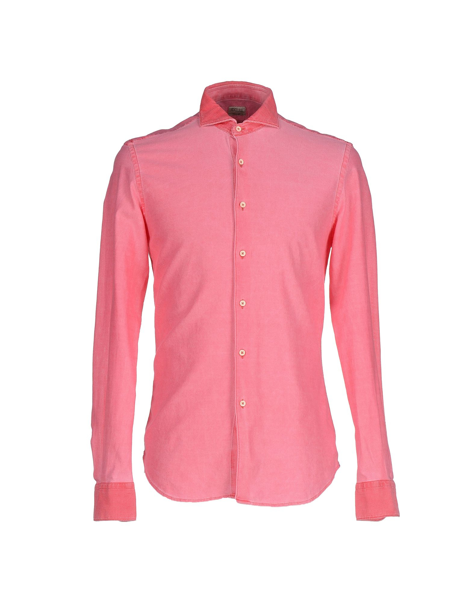 Xacus shirt in pink for men coral lyst for Coral shirts for guys