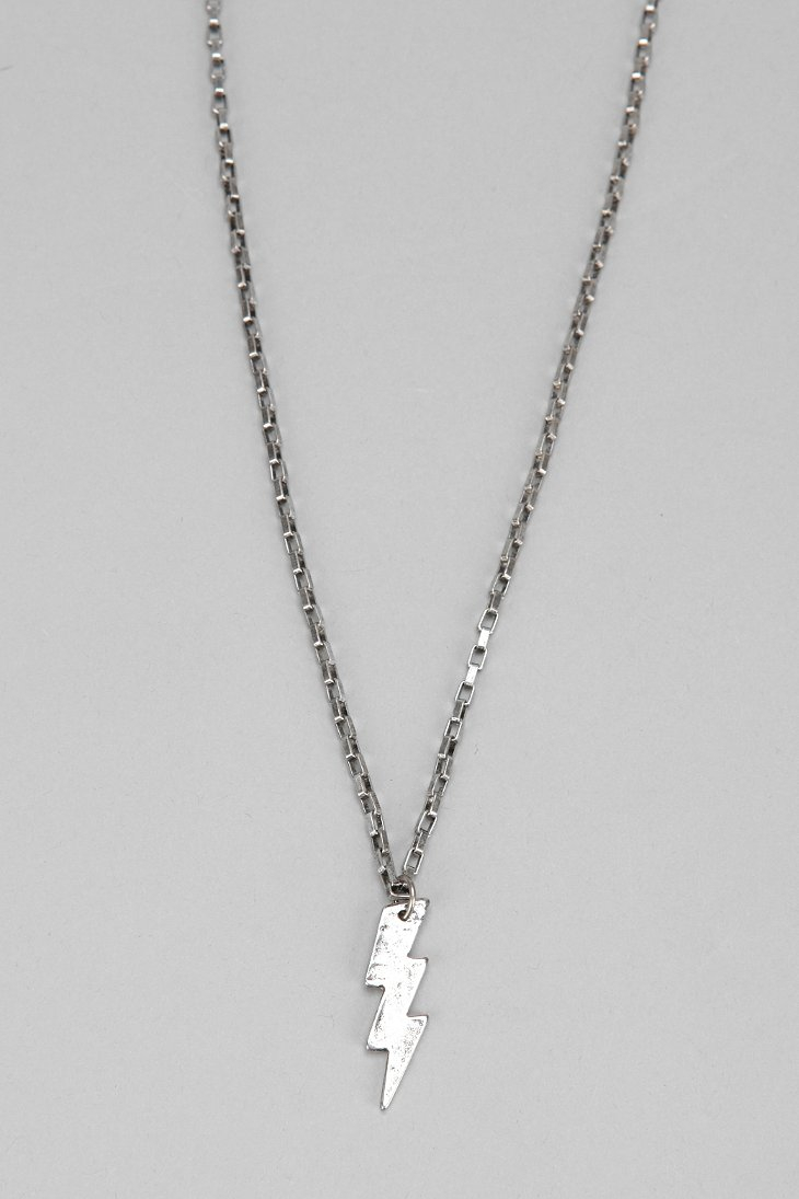 Lyst urban outfitters lightning bolt pendant necklace in gallery mozeypictures Image collections