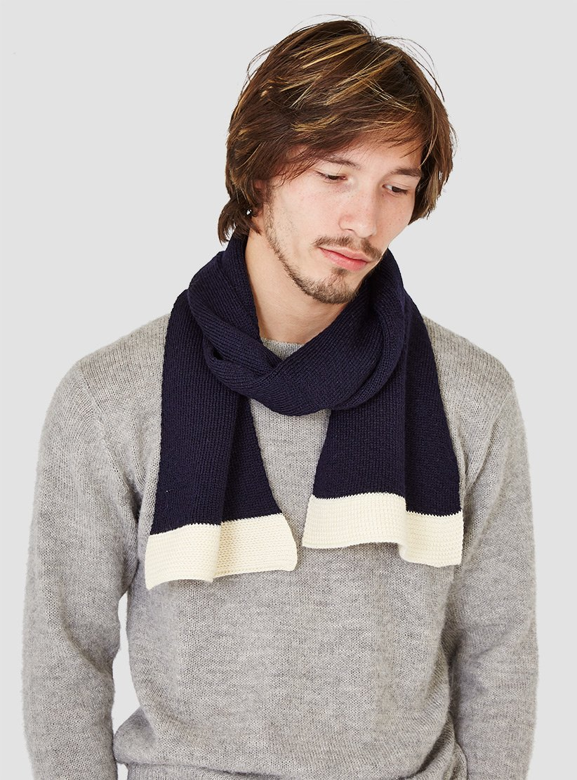 98547326ee45 North Sea Clothing Engineer Scarf Navy in Blue for Men - Lyst