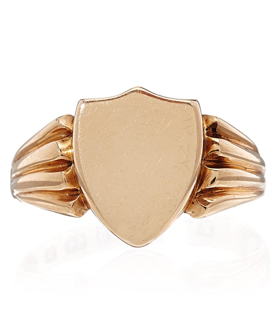 58102e8074415 Lyst - Annina Vogel Gold Antique Locket Signet Ring in Metallic
