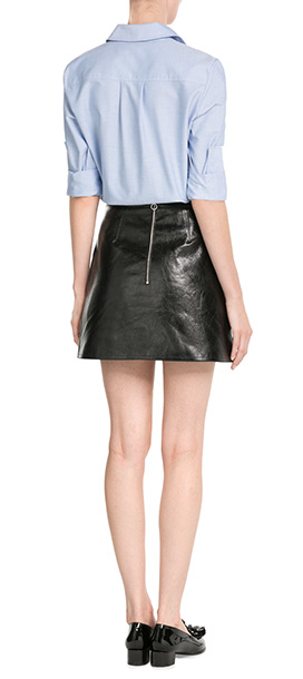 Victoria, victoria beckham Leather Mini Skirt - Black in Black | Lyst