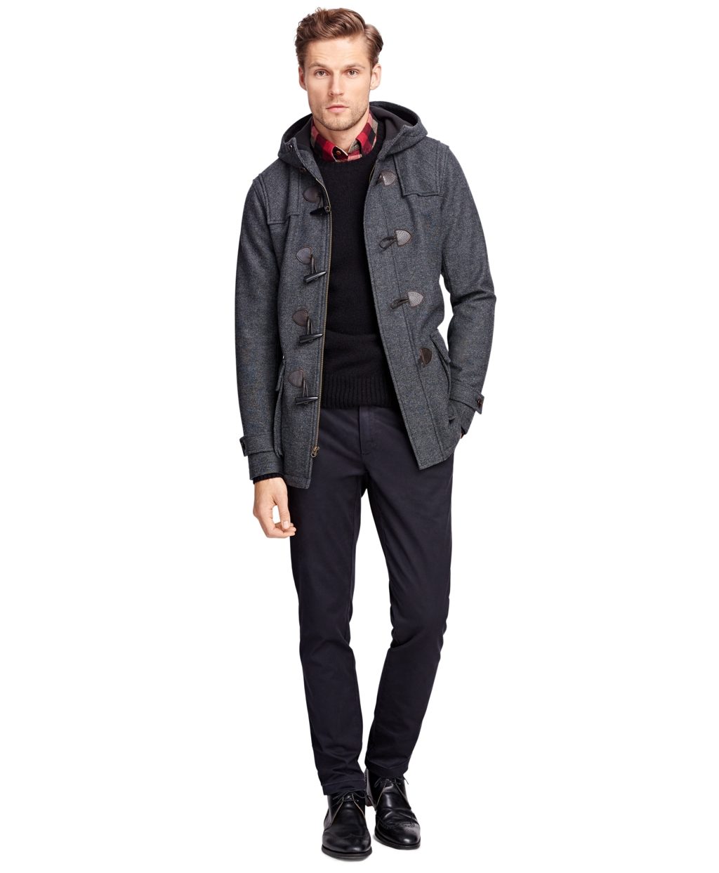 Brooks brothers Duffle Coat in Gray | Lyst