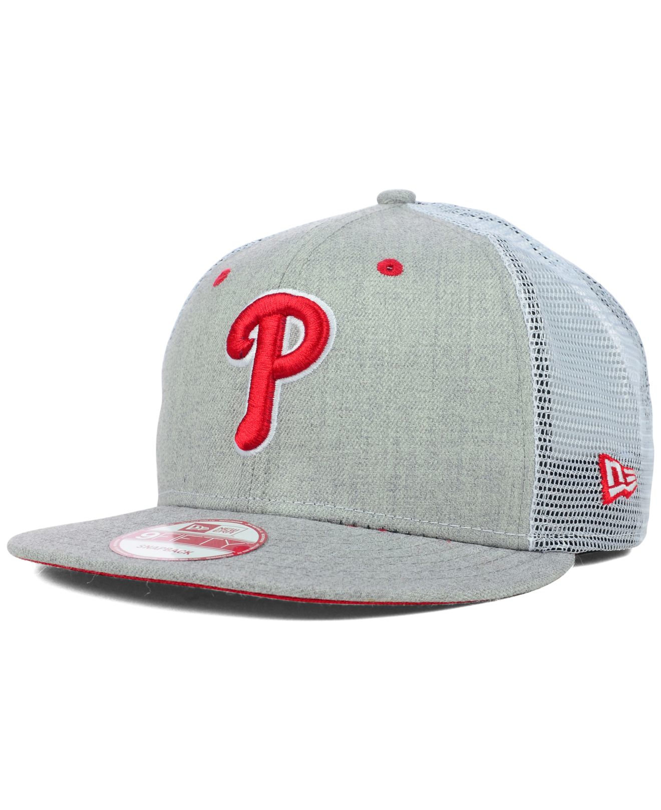 ca21e8adf0ac4 KTZ Philadelphia Phillies Heather Trucker 9fifty Snapback Cap in ...