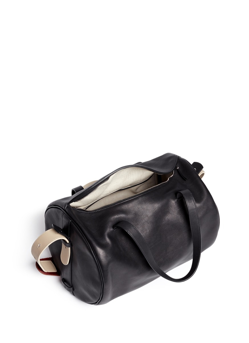 Lyst The Row Drum Pony Hair Strap Leather Shoulder Bag