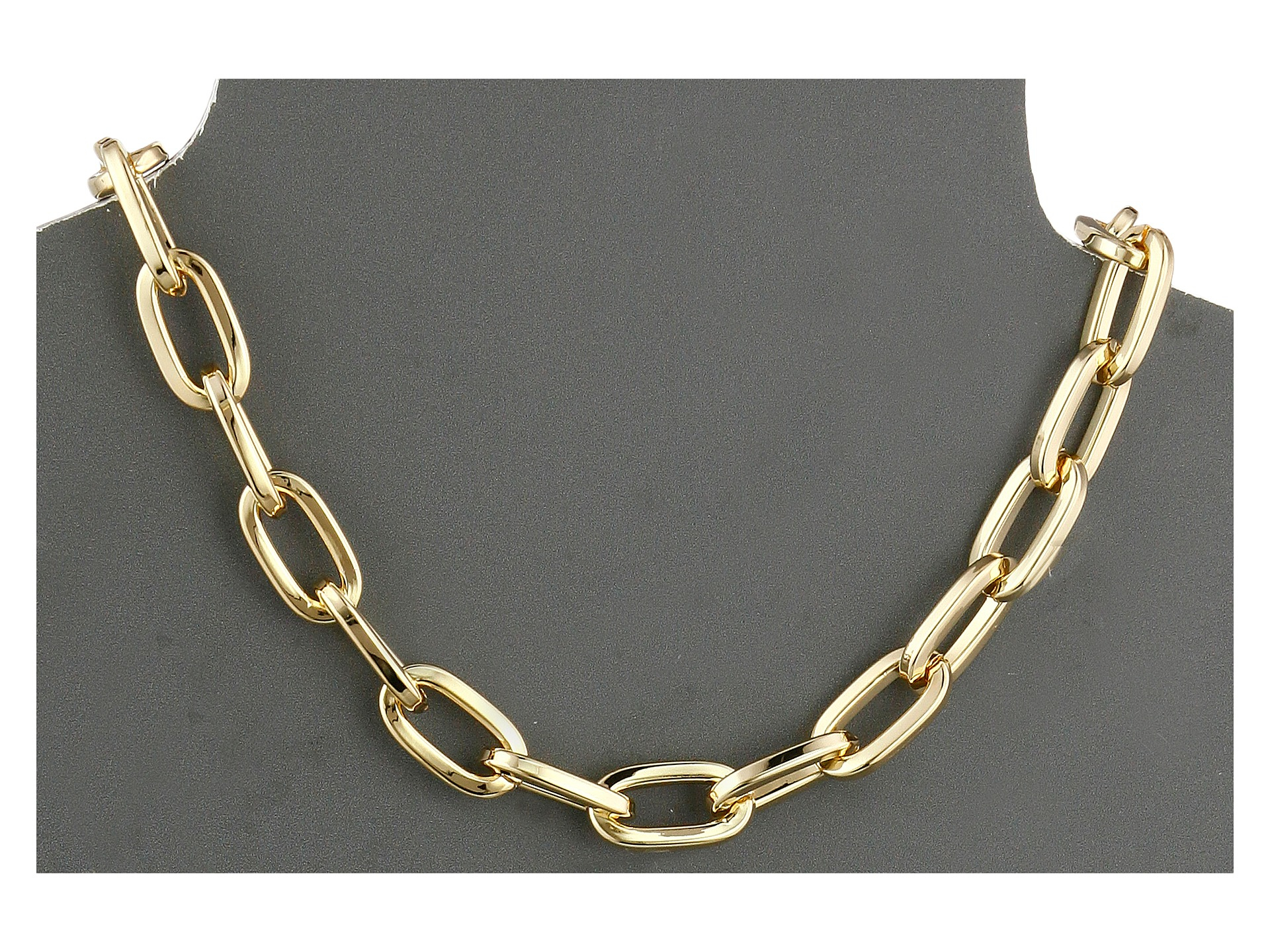 ed items necklace tiffany in link gold co long jewelry oval white chain m