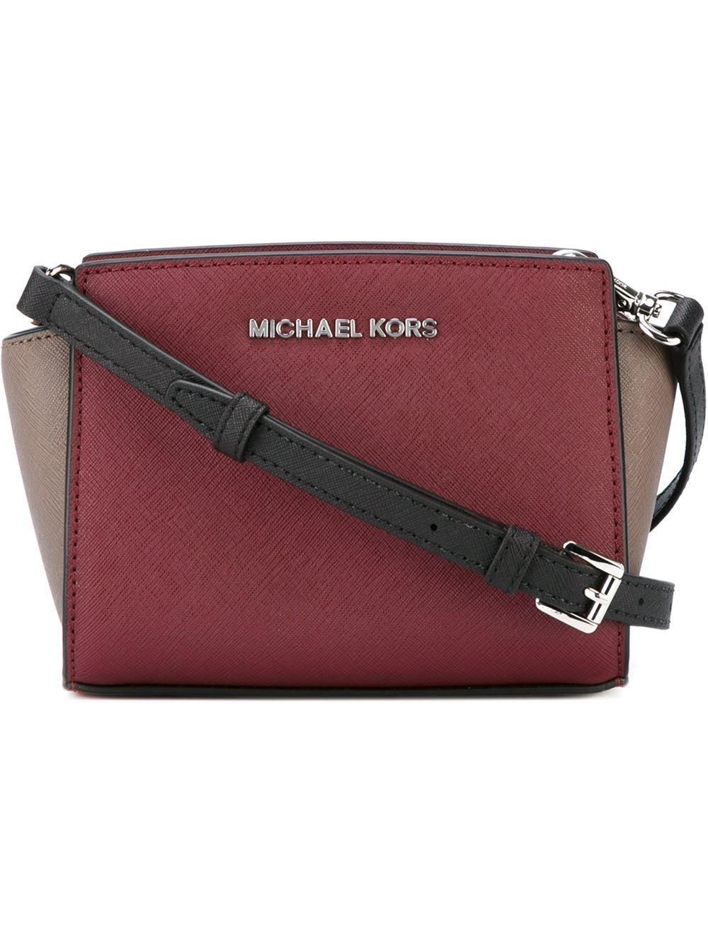 5057068e414cc ... coupon code for michael michael kors mini selma crossbody bag in purple  lyst 2d526 53497