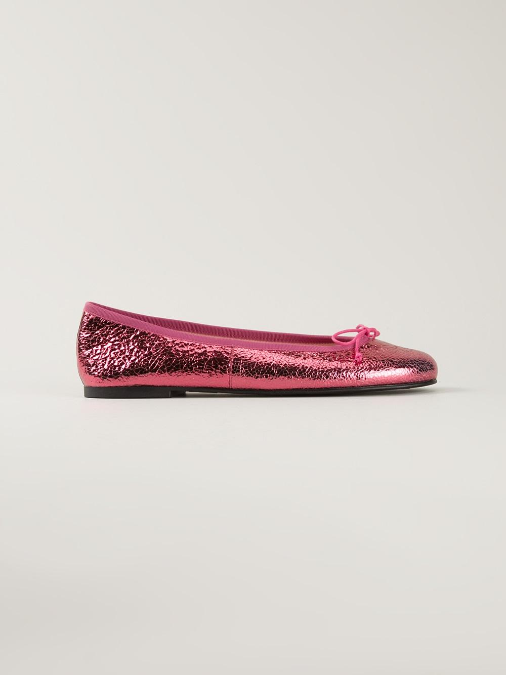 pretty ballerinas metallic ballerina in pink pink purple lyst. Black Bedroom Furniture Sets. Home Design Ideas