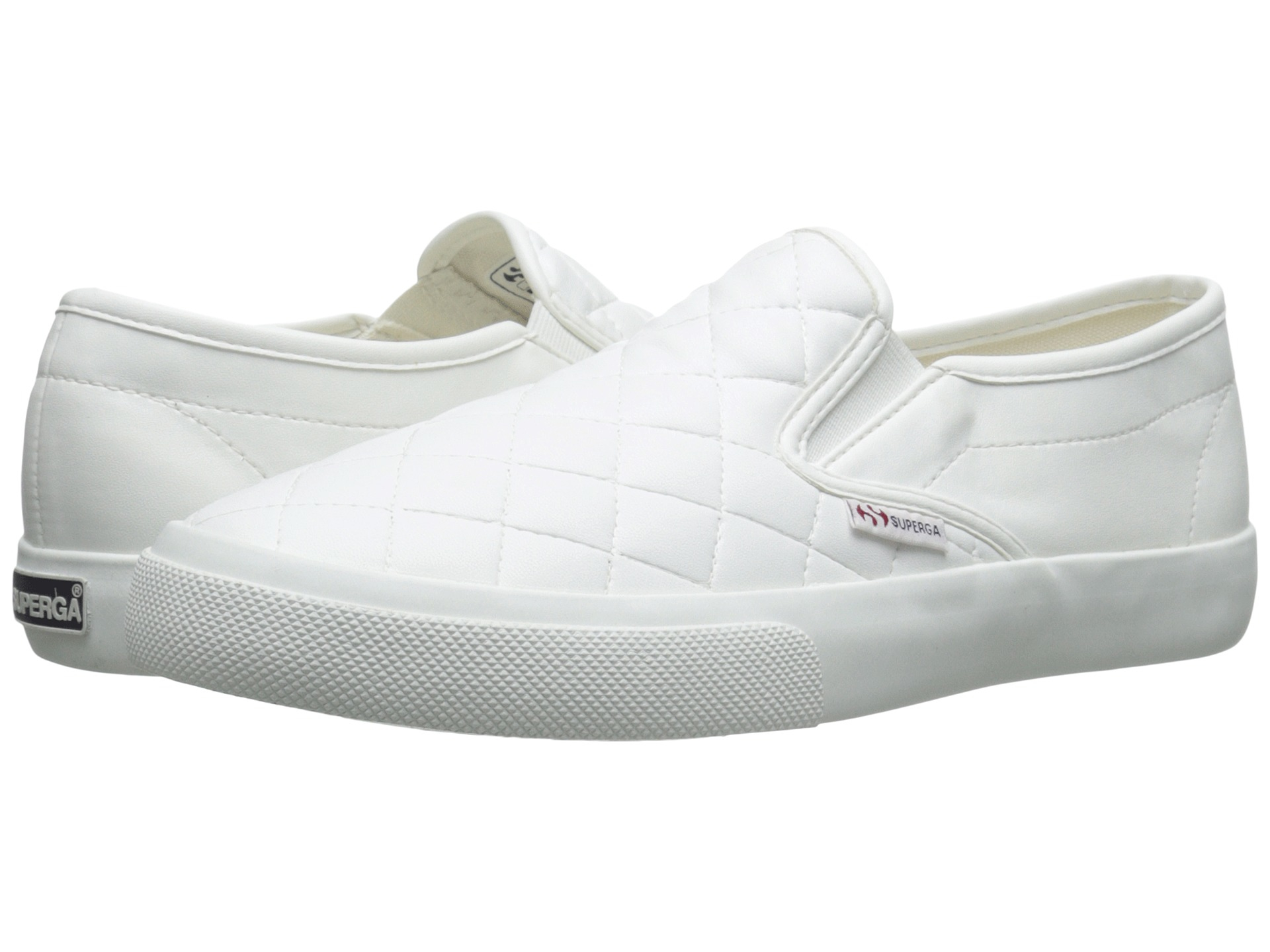 Womens Shoes Superga 2311 Quilted White