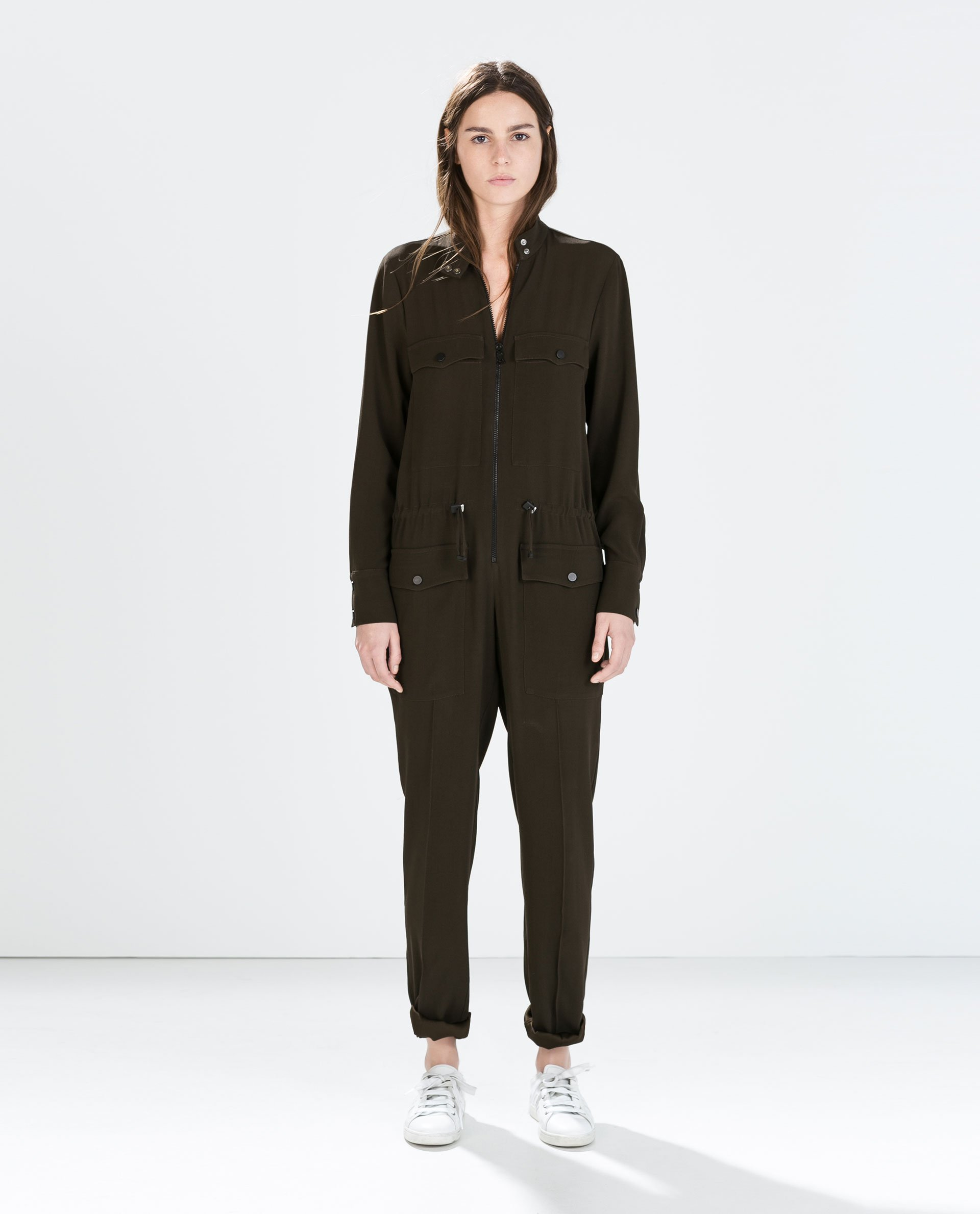 Model Zara Jumpsuit With Elasticated Waist In Black  Lyst