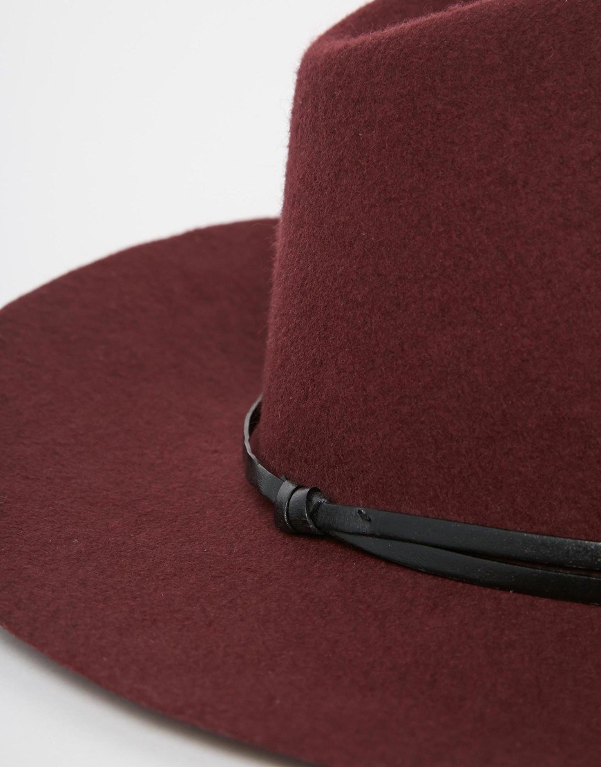 e0fa4b69cde Lyst - Catarzi Wide Brim Unstructured Fedora Hat in Red for Men