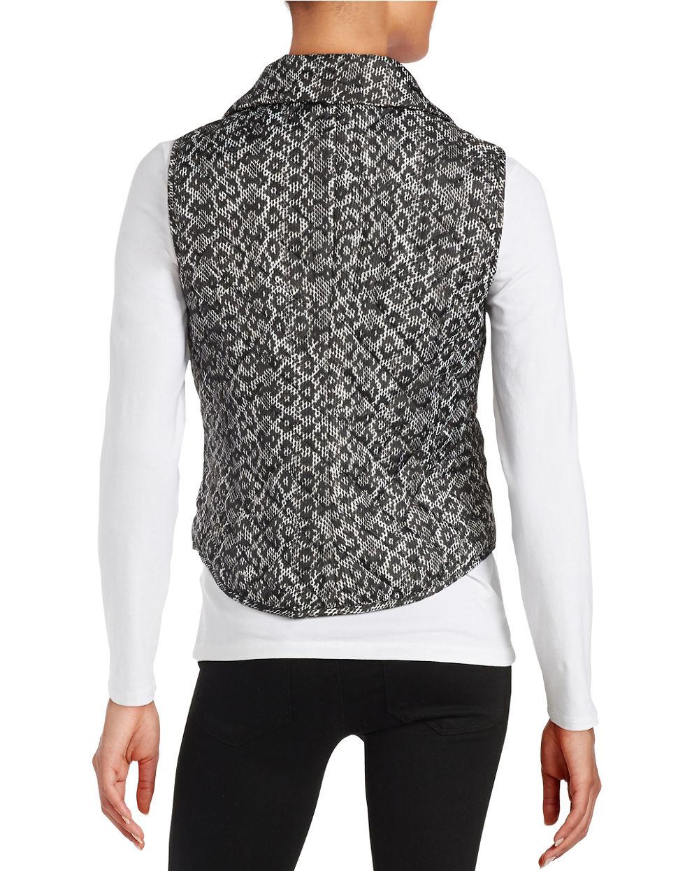 Michael michael kors Petite Quilted Zip-front Vest in Black | Lyst : quilted zip front vest - Adamdwight.com