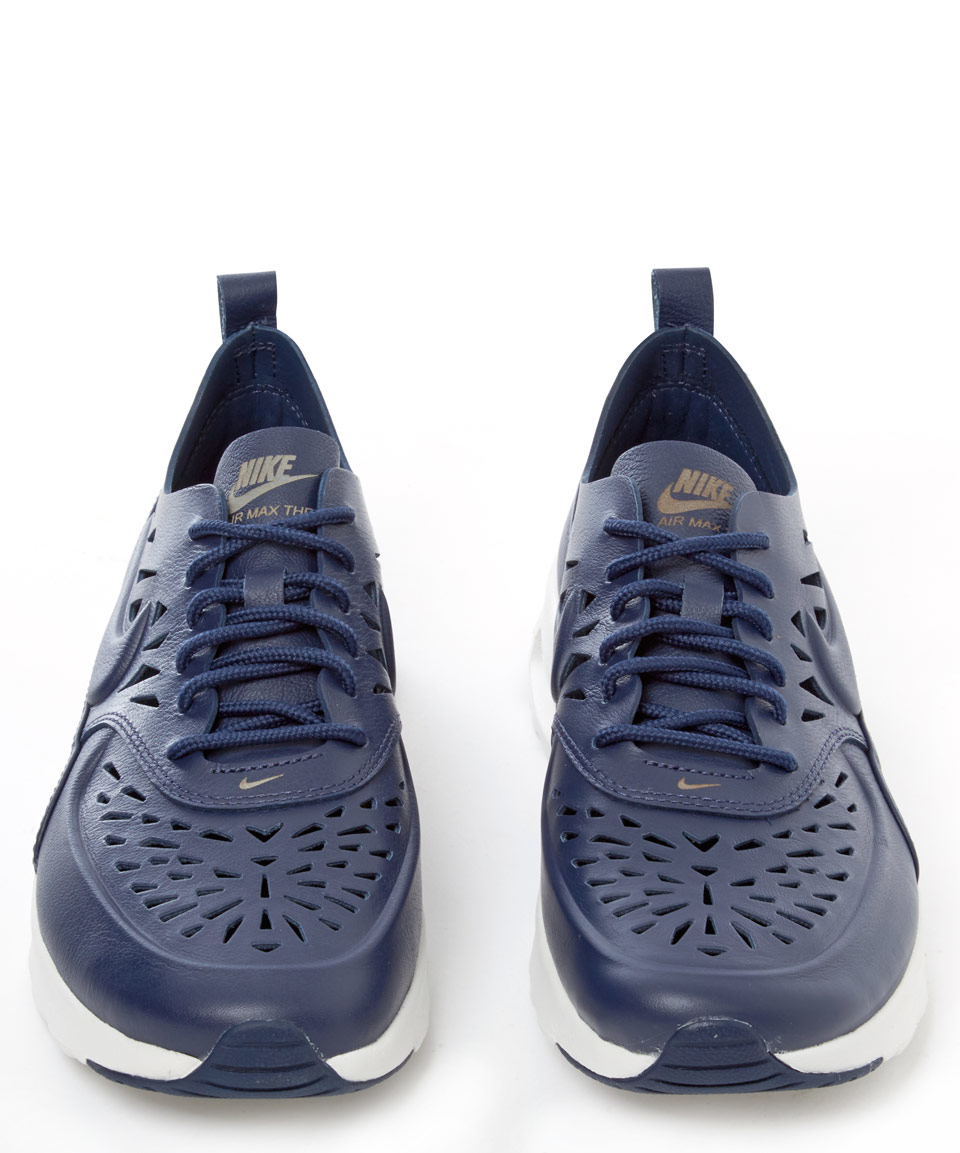 Lyst - Nike Navy Air Max Thea Joli Leather Trainers in Blue 1a10decfa