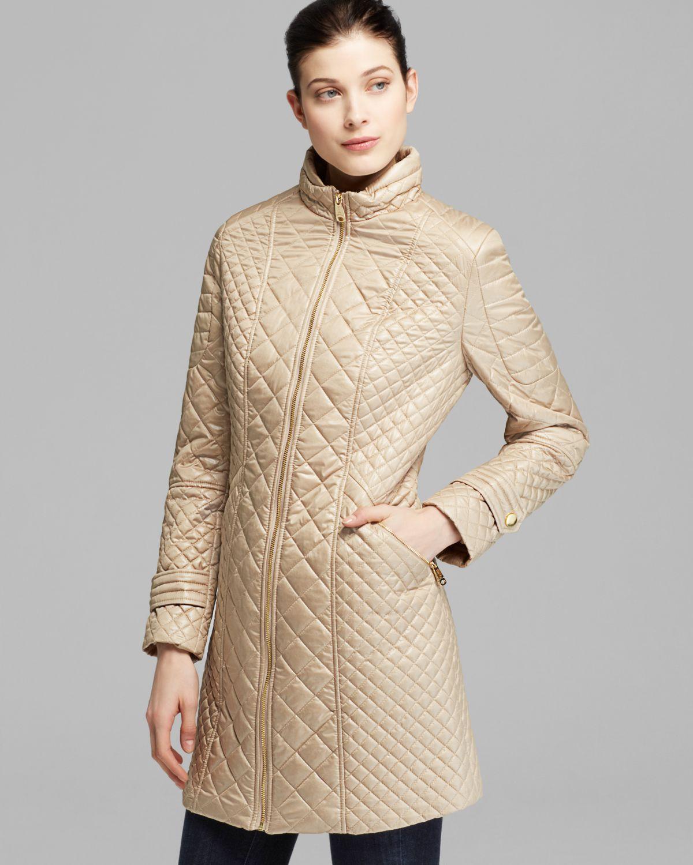 Lyst - Via spiga Coat Mid Length Camel Quilted in Metallic : via spiga quilted coat - Adamdwight.com