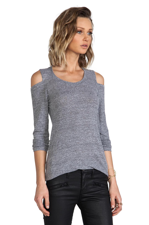 Lyst Monrow Open Shoulder Top In Gray