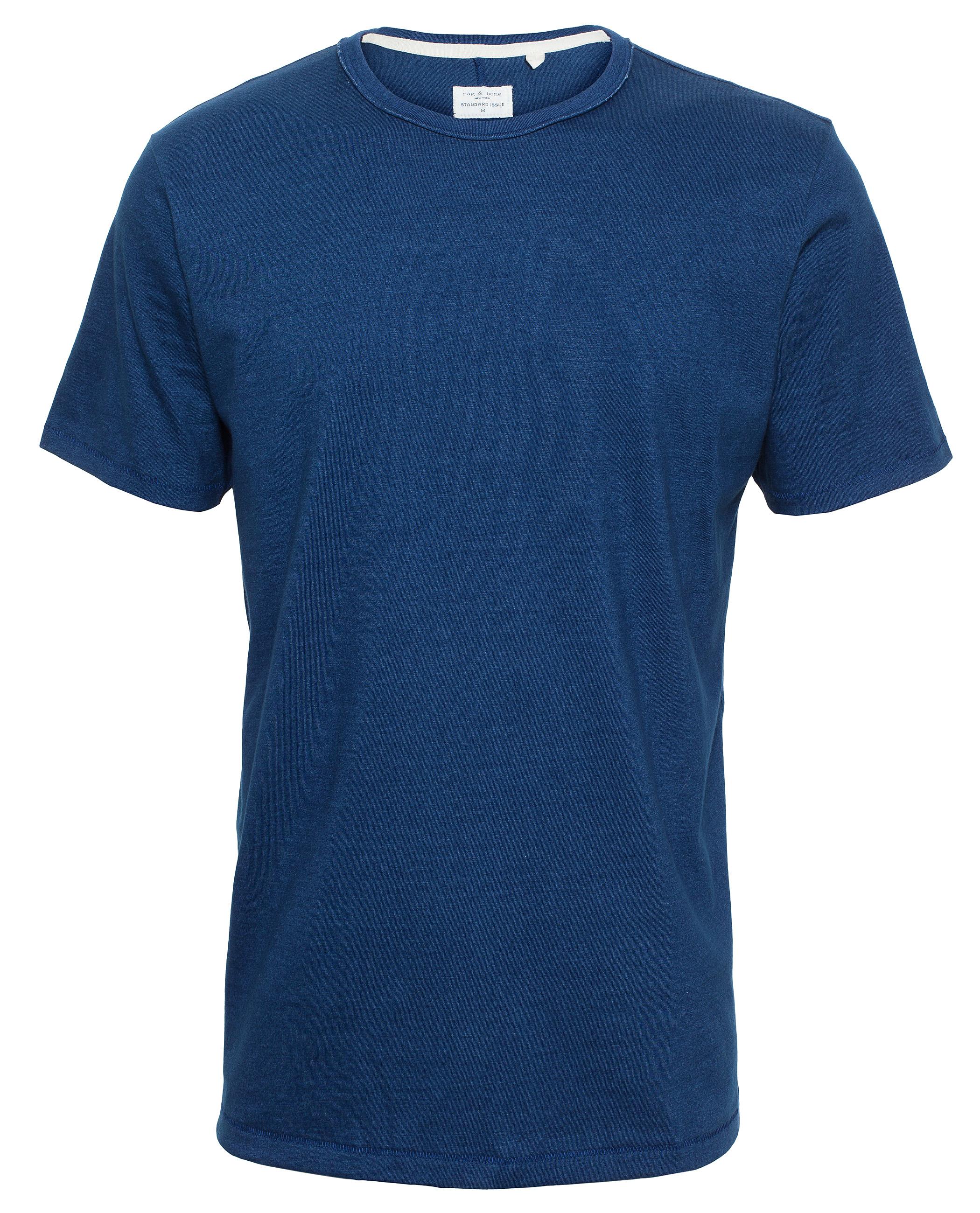 Rag bone basic cotton t shirt in blue for men lyst for Rag and bone t shirts
