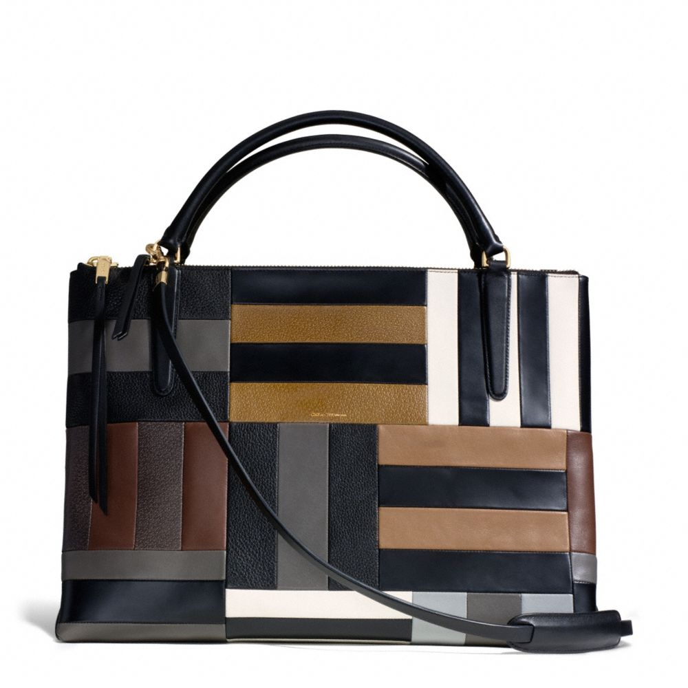 coach the large borough bag in patchwork leather in black lyst. Black Bedroom Furniture Sets. Home Design Ideas