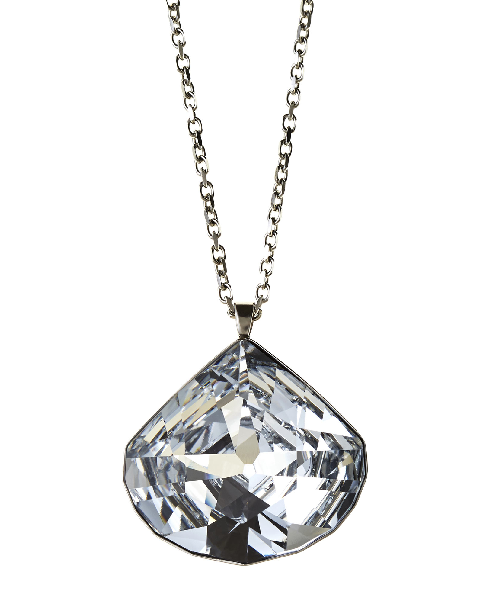 swarovskiblack pendant cu crystal tear jet gemini black swarovski plated rhodium drop necklace only